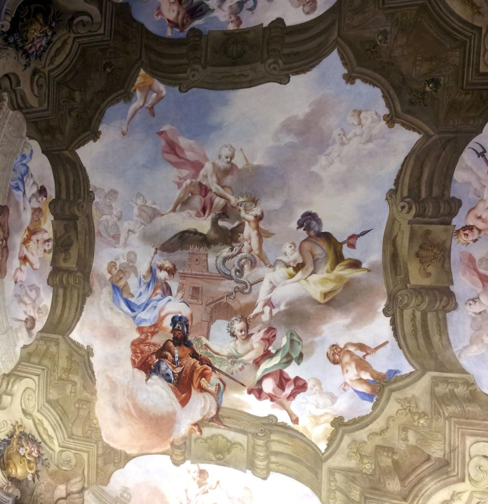 affreschi PALAZZO VISCONTI di Brignano Gera d'Adda