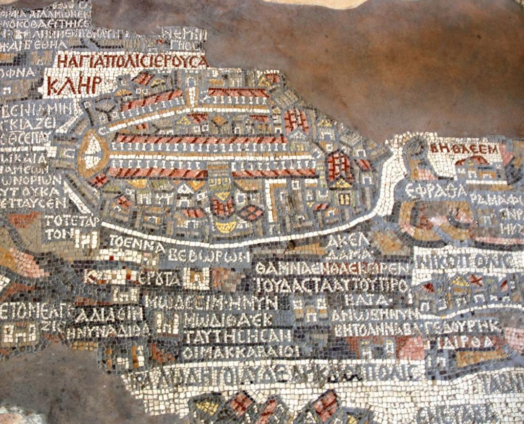 mappa terrasanta madaba