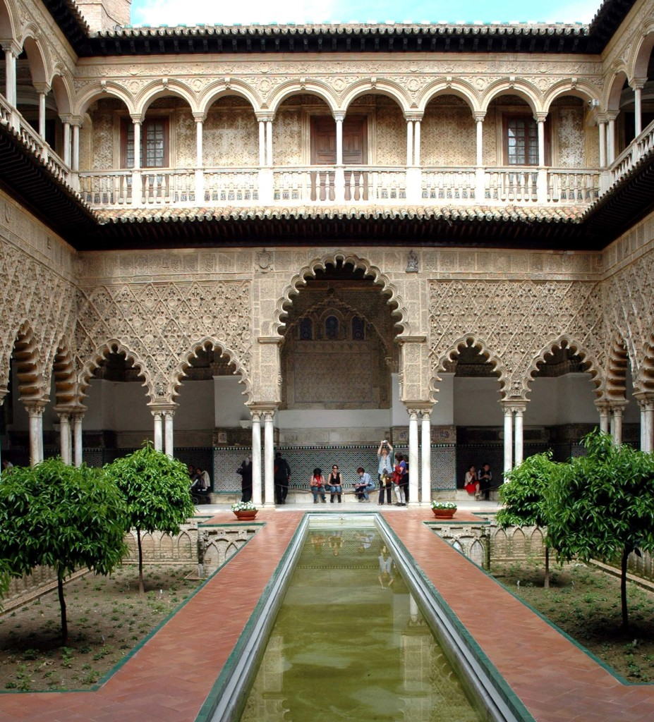real alcazar patio de las doncellas_1