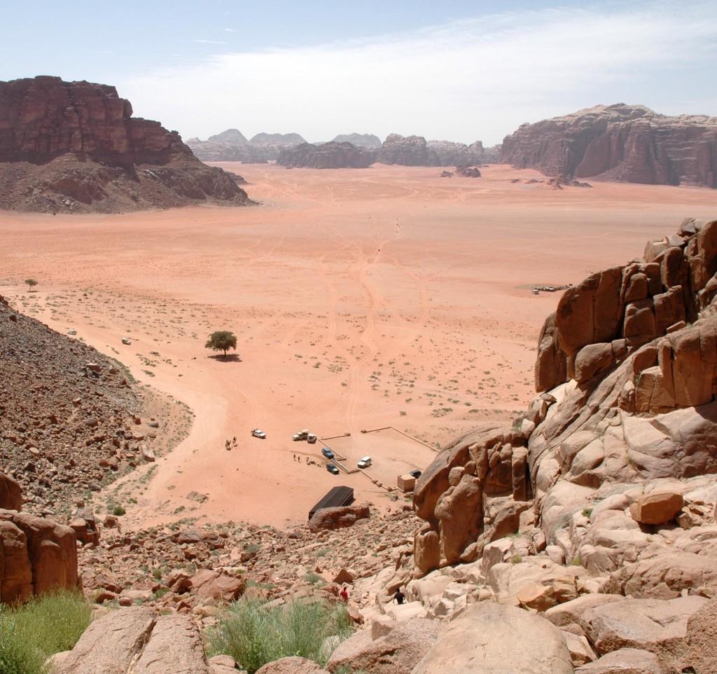wadi rum vista da Ain Abu Aineh