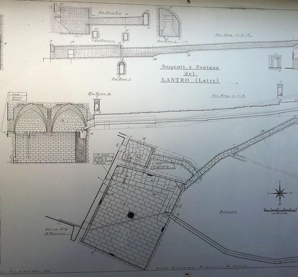 planimetria fontana del lantro bergamo