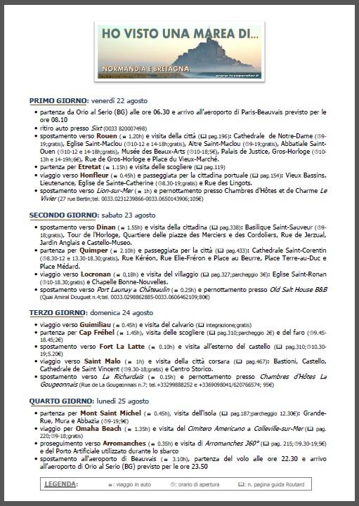 Programma tour Normandia e Bretagna (immagine)