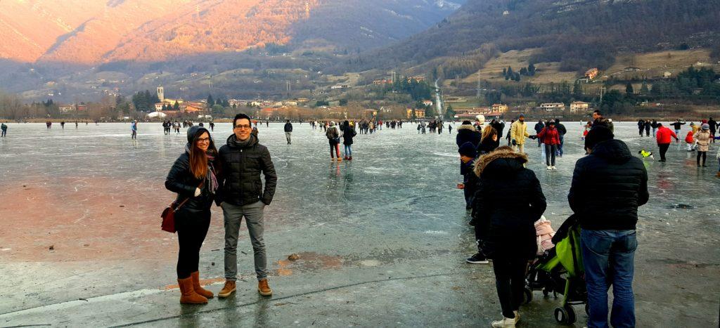 lago monasterolo ghiaccio