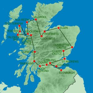 MAPPA itinerario scozia 8 giorni