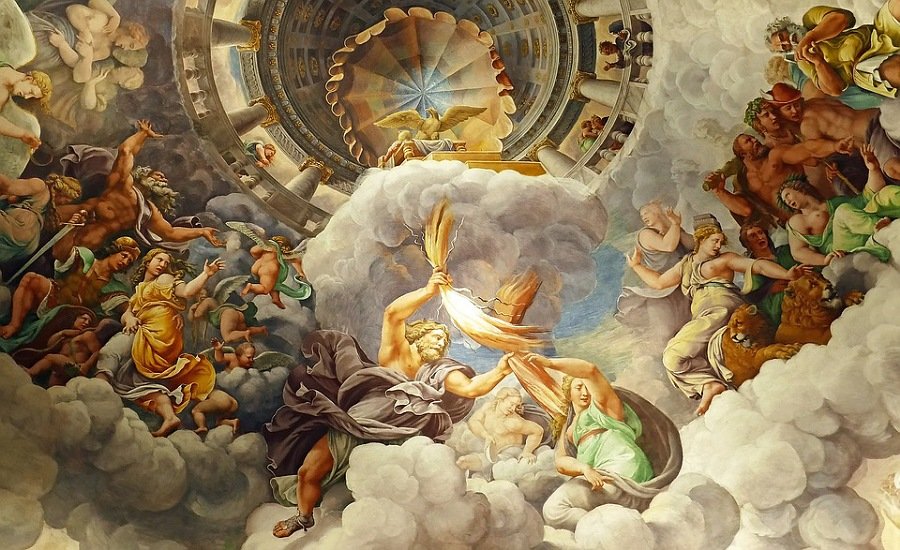 affreschi in palazzo te a mantova