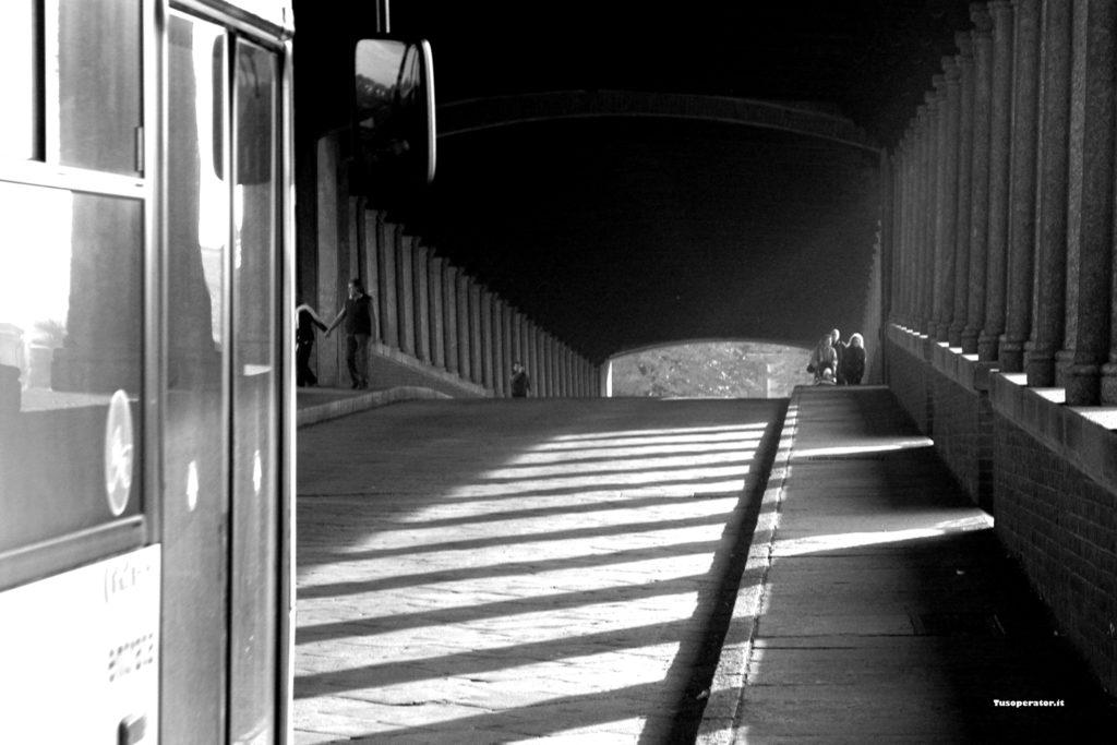 ponte coperto pavia bianco e nero