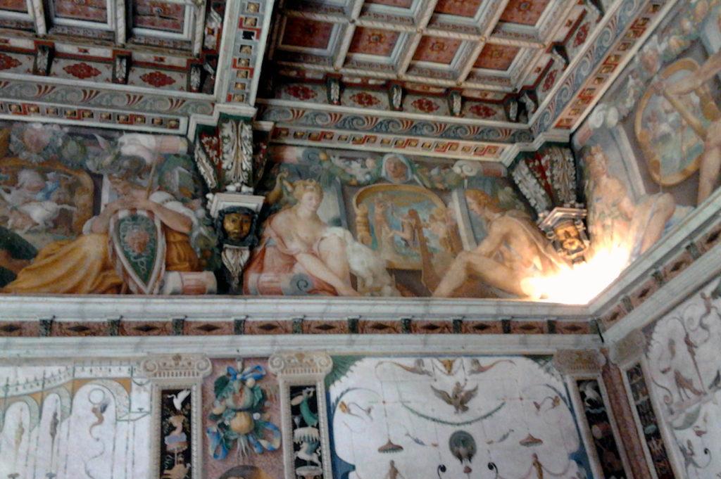 interni affreschi Palazzo Barbò di Torre Pallavicina