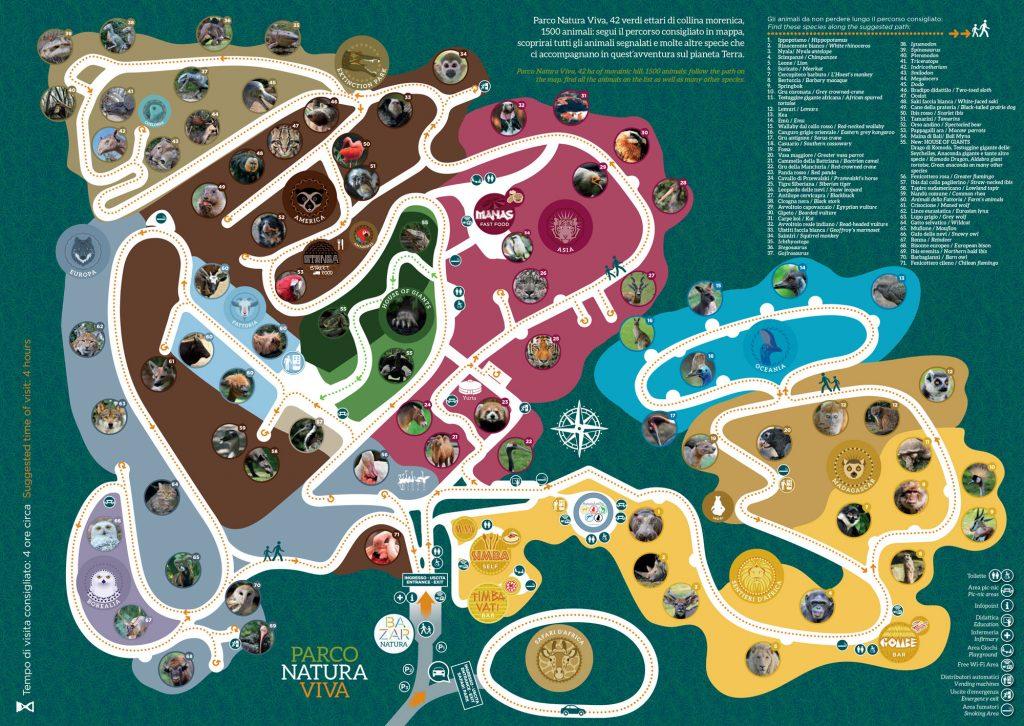 mappa dello zoo safari di verona a bussolengo