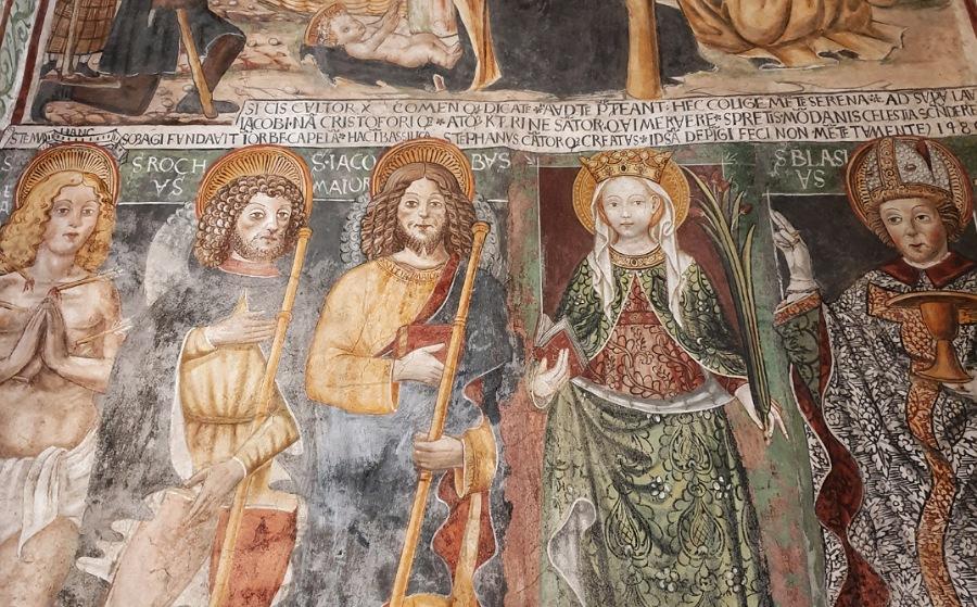 Affreschi nella Basilica di San Giulio sull'isola di San Giulio