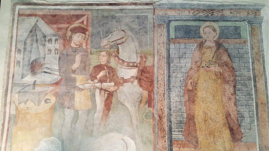 cornello dei tasso affreschi chiesa