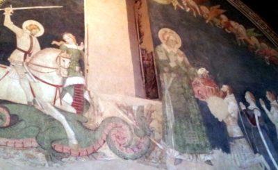 Visita Oratorio di Santo Stefano affreschi