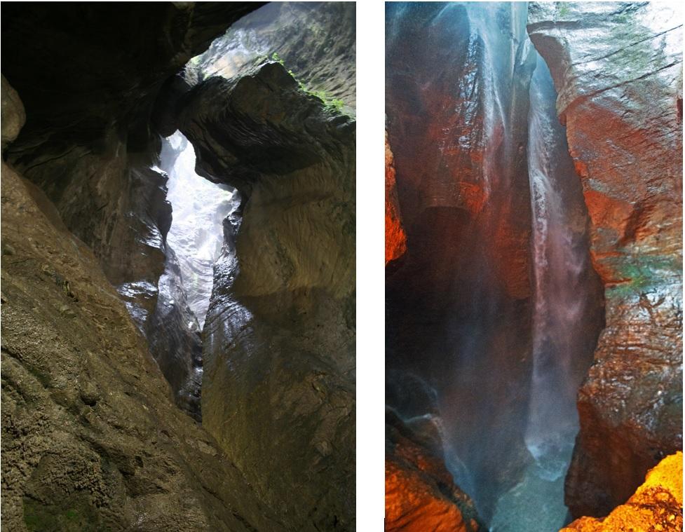 gole e forre alle cascate del varone vicino al lago di garda