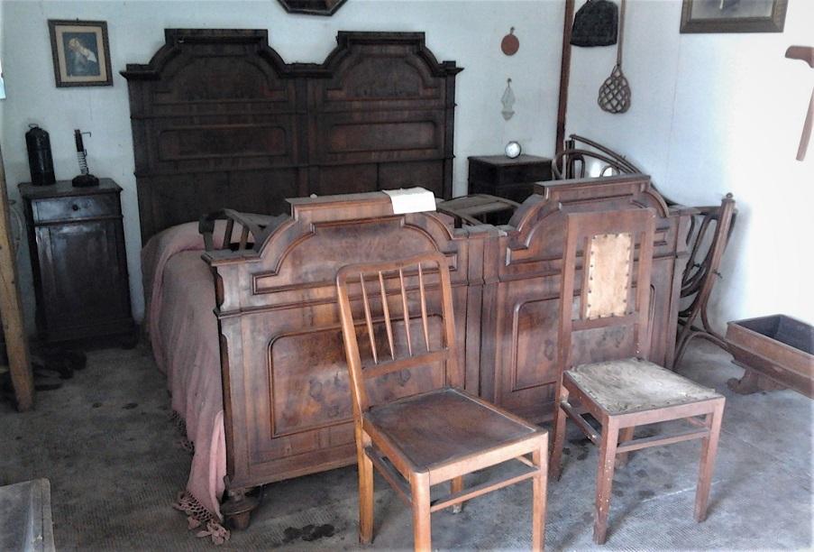 stanza di contadini nel museo di storia dell'agricoltura a sant'angelo lodigiano
