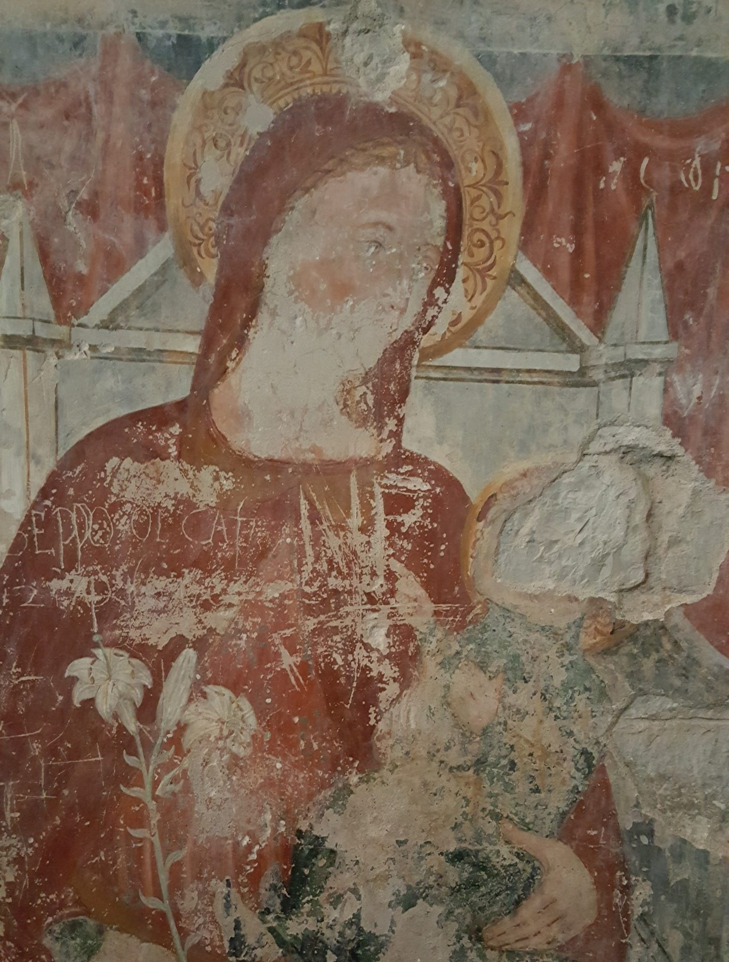 affresco interno san tome madonna
