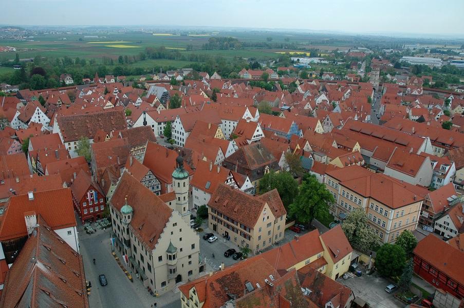NORDLINGEN IM REIS vista dal campanile_cosa vedere_Strada Romantica_Baviera