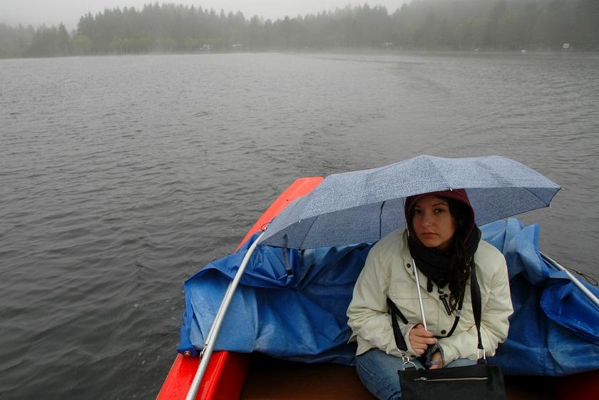 giorno di pioggia sul Titisee_foresta nera