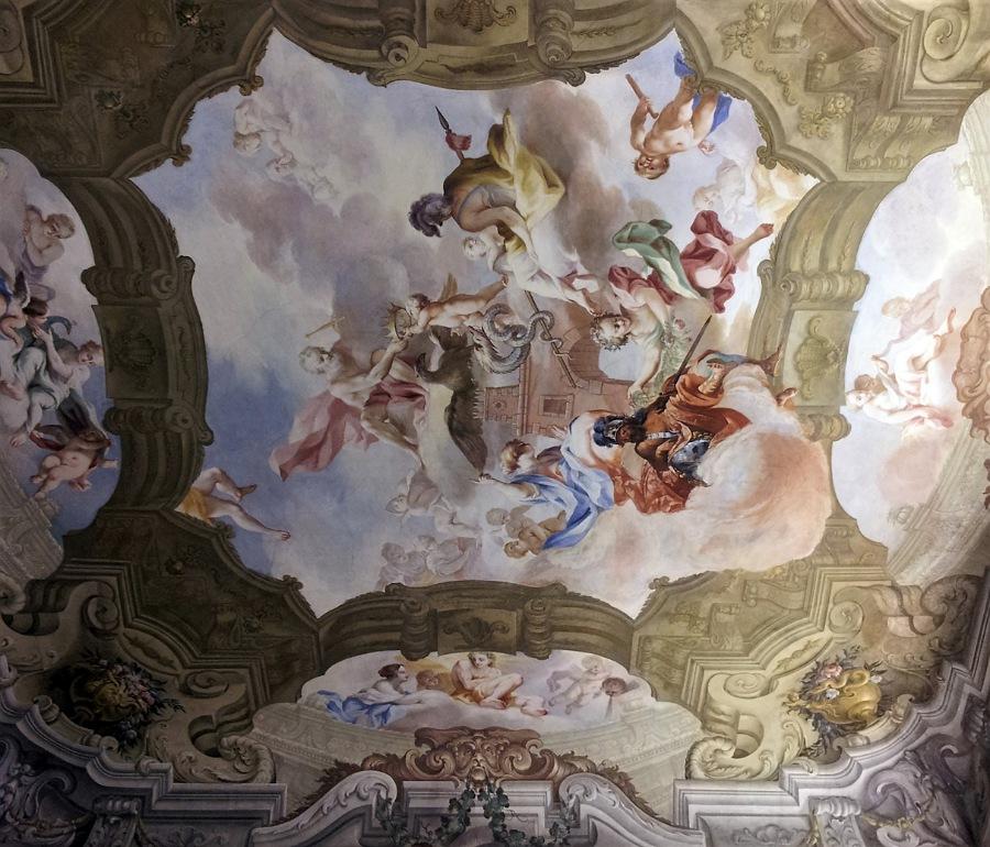 affreschi_PALAZZO VISCONTI DI BRIGNANO_interni
