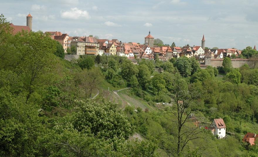 il borgo di Rothenburg sulla Strada Romantica