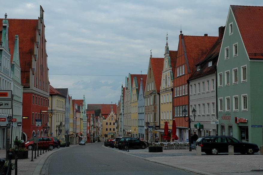 il villaggio di Donauworth in Baviera