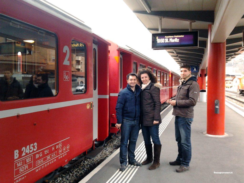 organizzare una giornata sul Trenino Rosso del Bernina
