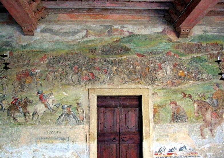 affreschi castello di malpaga_interni