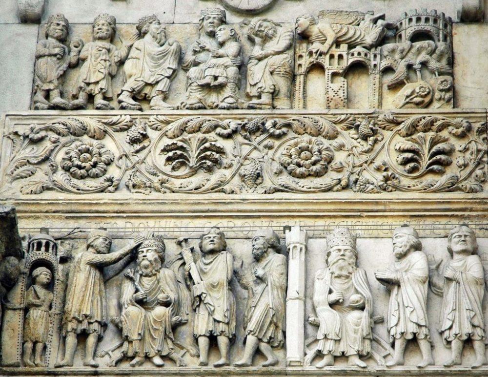 bassorilievi e sculture del duomo di fidenza