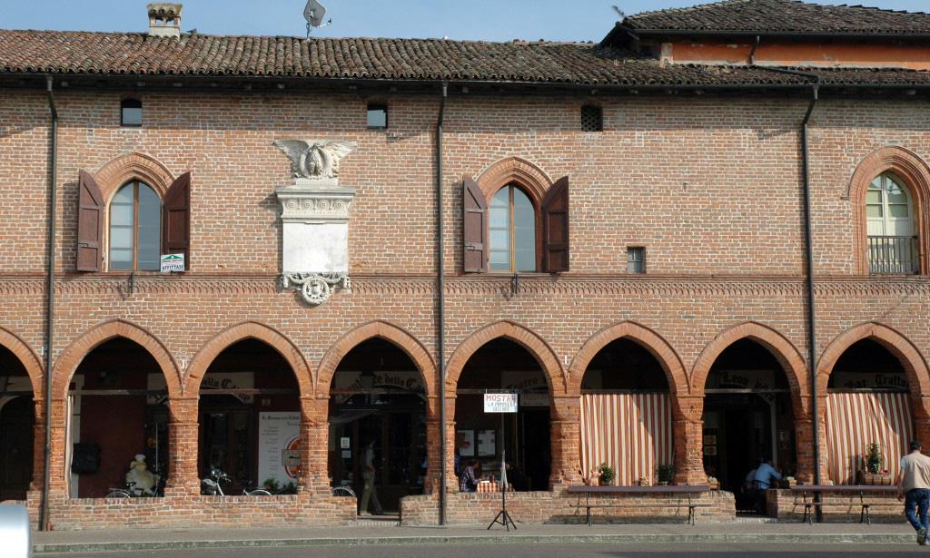 Facciata di Palazzo Pallavicino a Zibello Parma