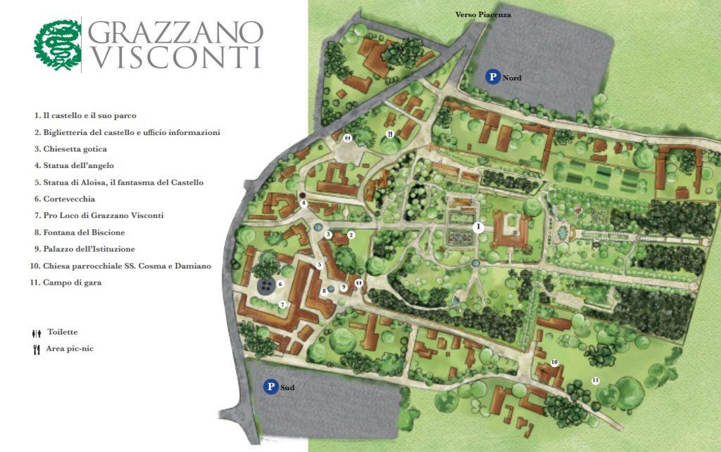 mappa_Grazzano visconti_cosa vedere