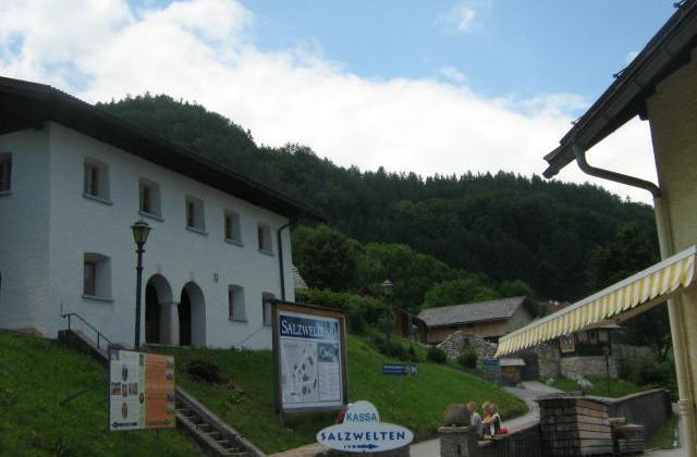 ingresso alle miniere di sale di hallein in austria