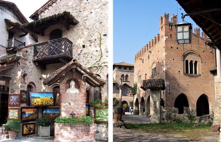 Botteghe artigianali e palazzi pubblici a Grazzano Visconti_Piacenza