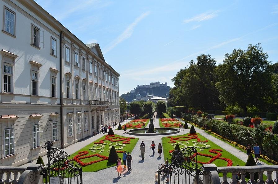 i giardini dello Schloss Mirabell a Salisburgo_itinerario a piedi