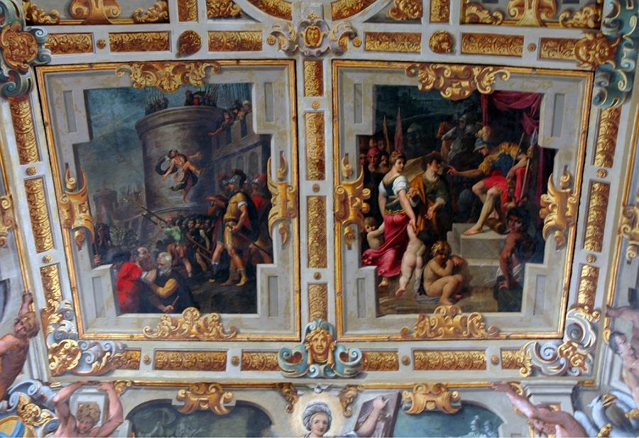 soffito del palazzo comunale di modena_visita degli interni