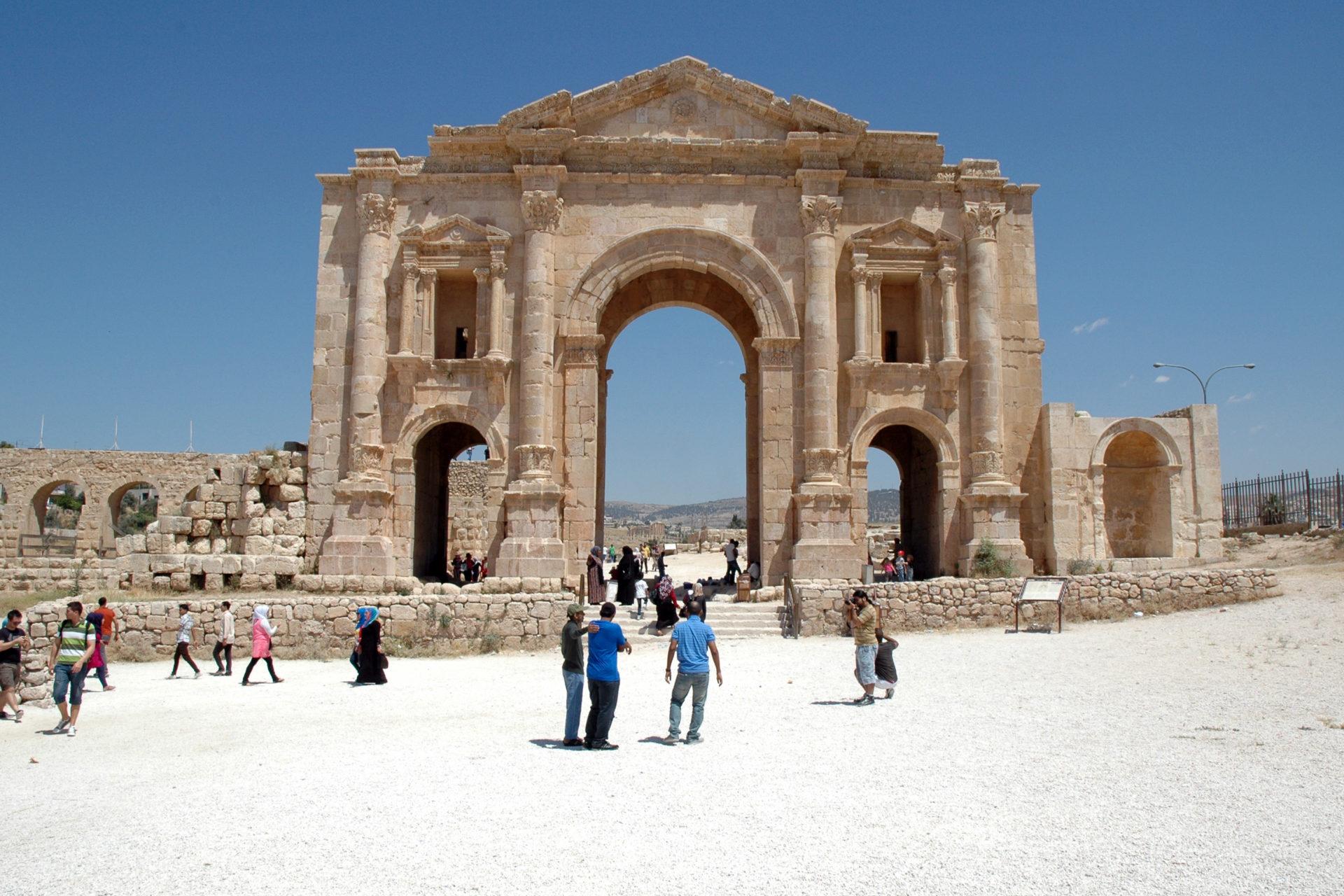Jerash Gerasa Giordania arco adriano