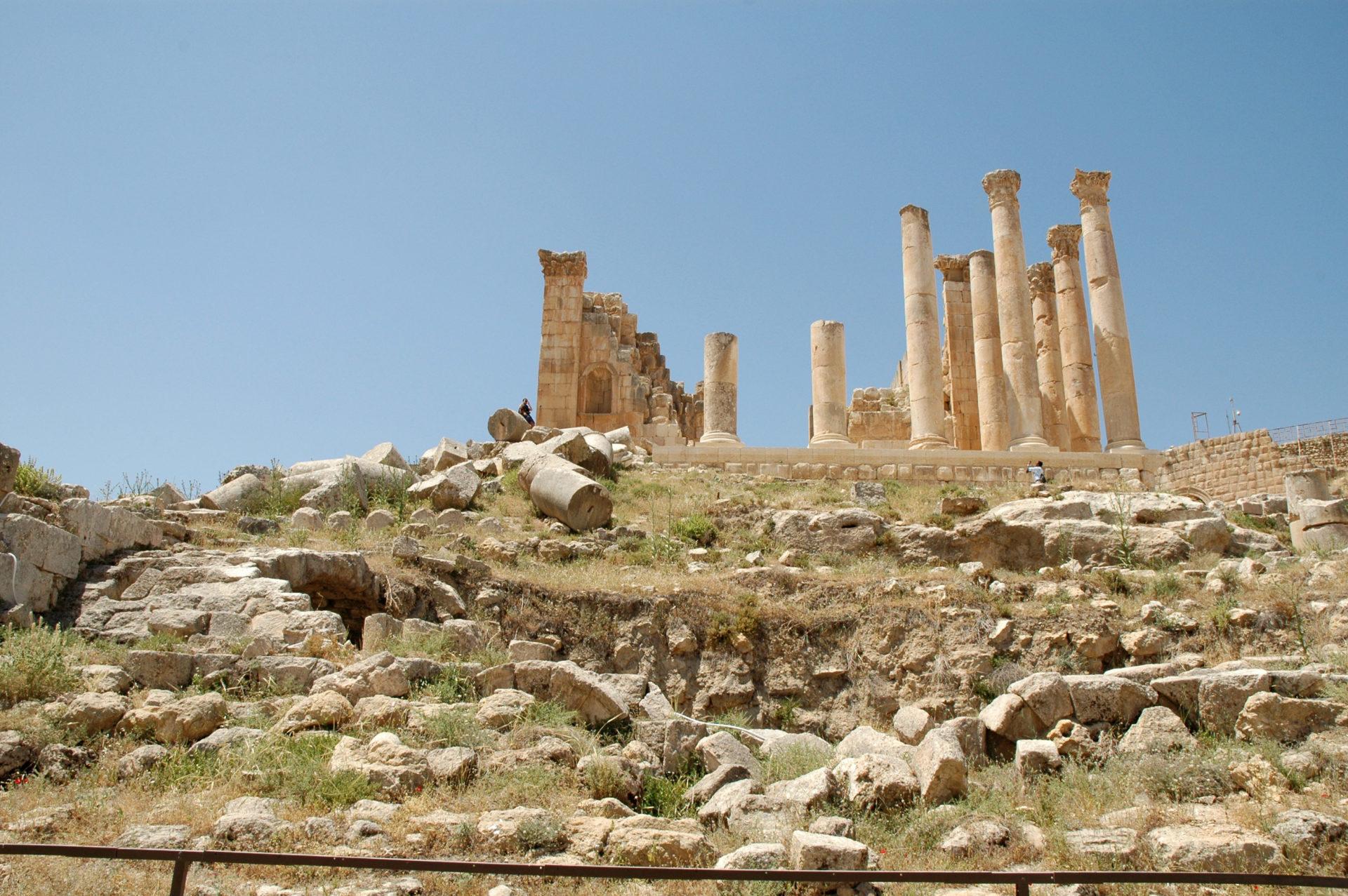 Jerash Gerasa Giordania tempio zeus