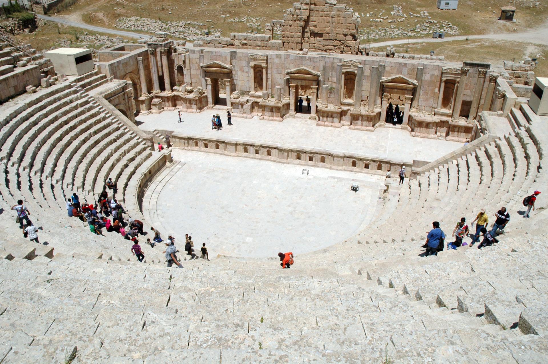 Jerash Gerasa Giordania teatro