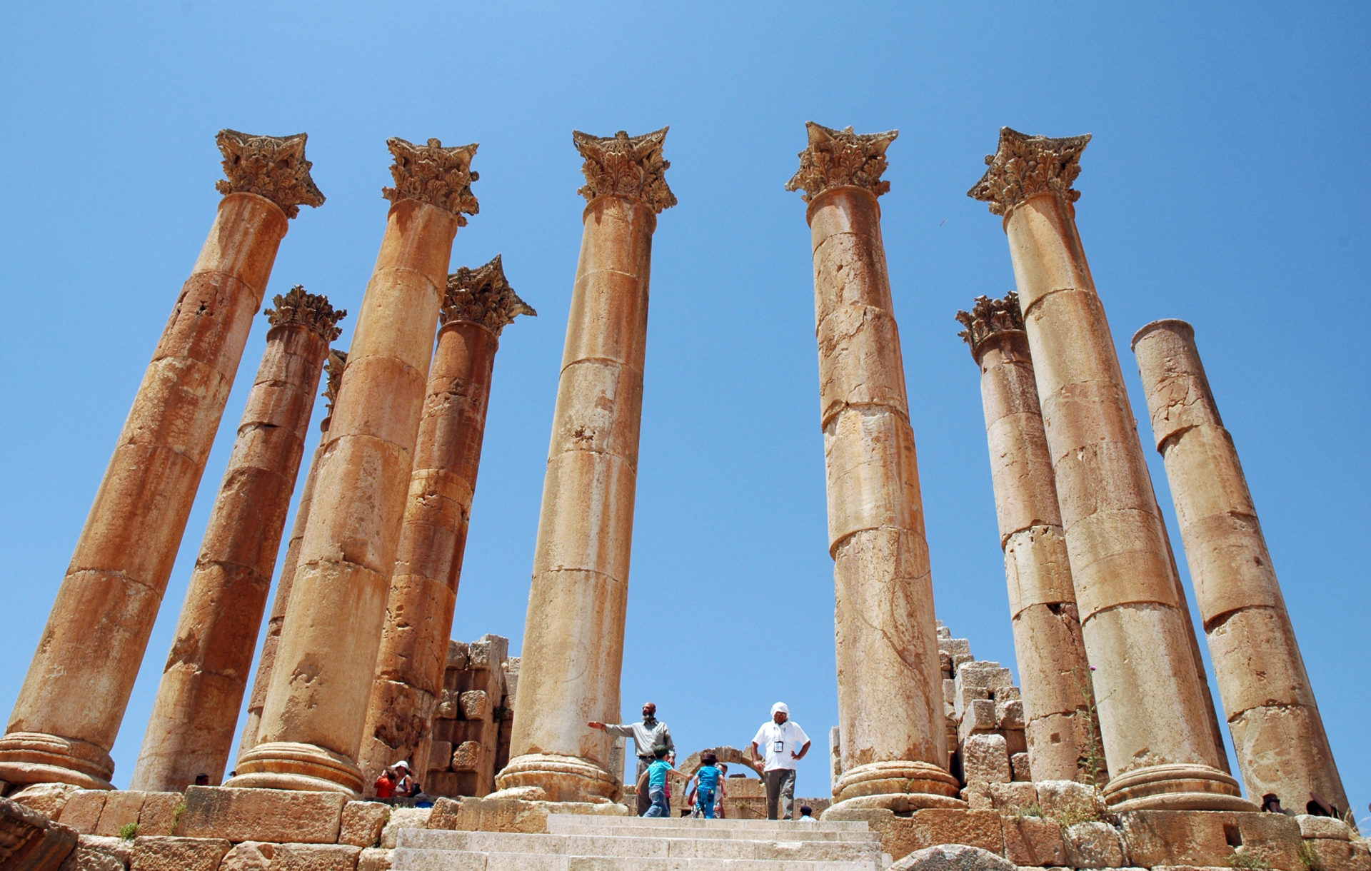 Jerash Gerasa Giordania tempio artemide