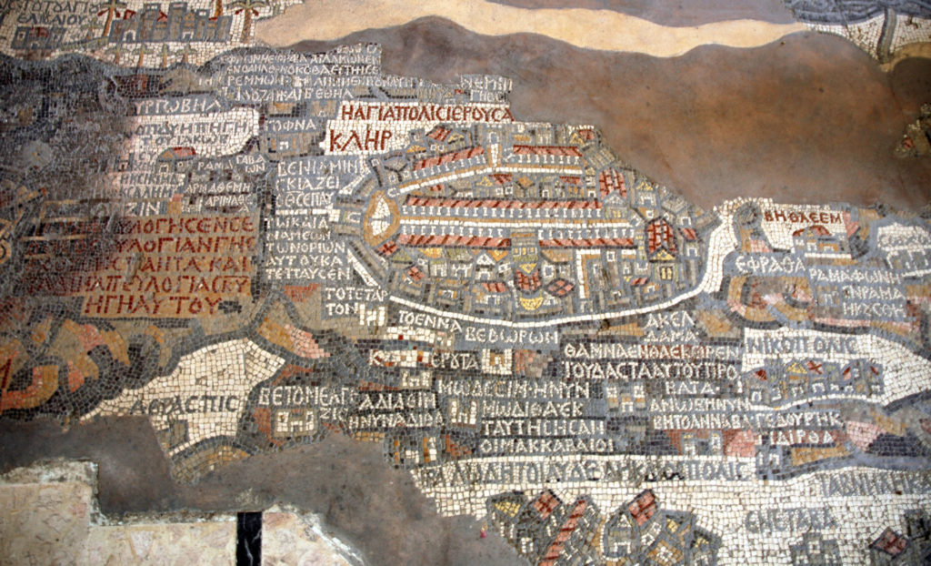 mosaico madaba in giordania