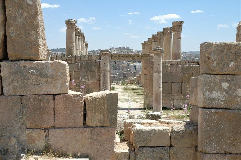 antica e nuova città di jerash_itinerario