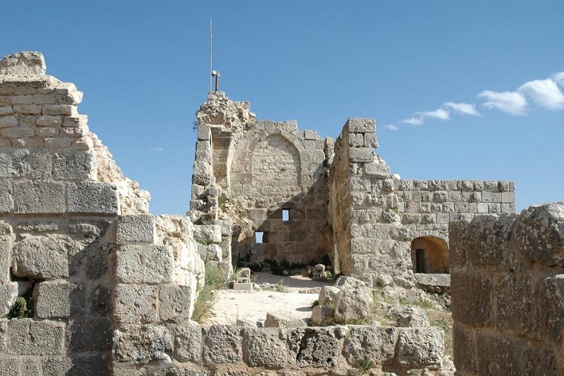 Le rovine del Castello di Ajlun in Giordania