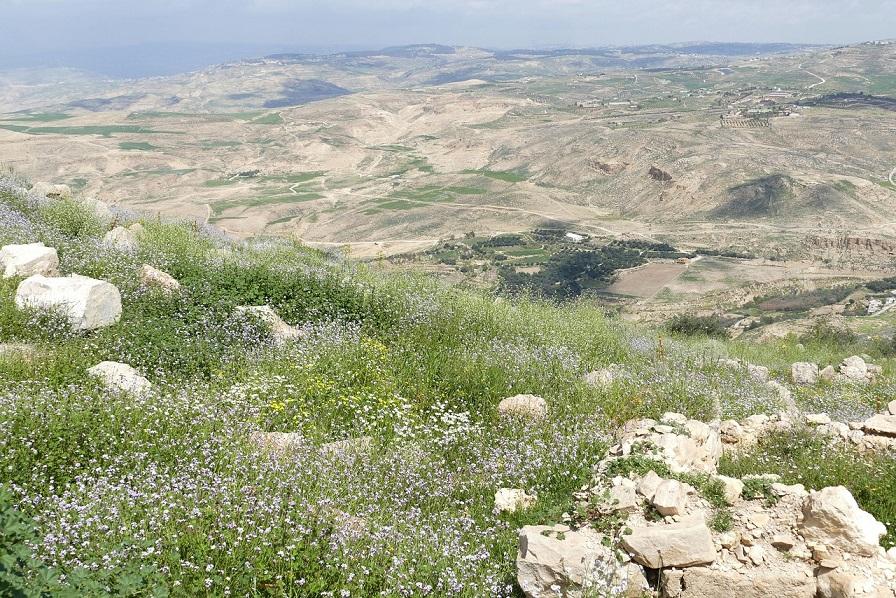 La terra promessa dal Monte Nebo in Giordania