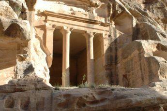 casa dipinta piccola petra beida in giordania