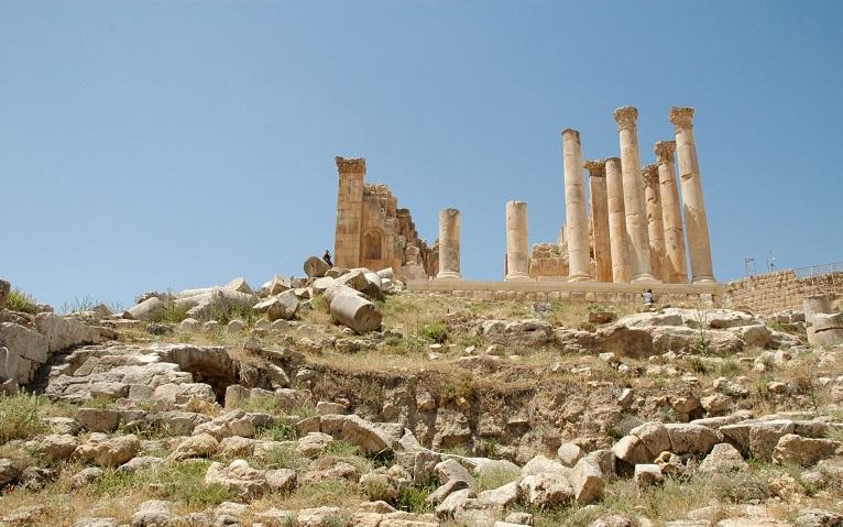 Tempio di Giove_cosa vedere a Jerash in Giordania