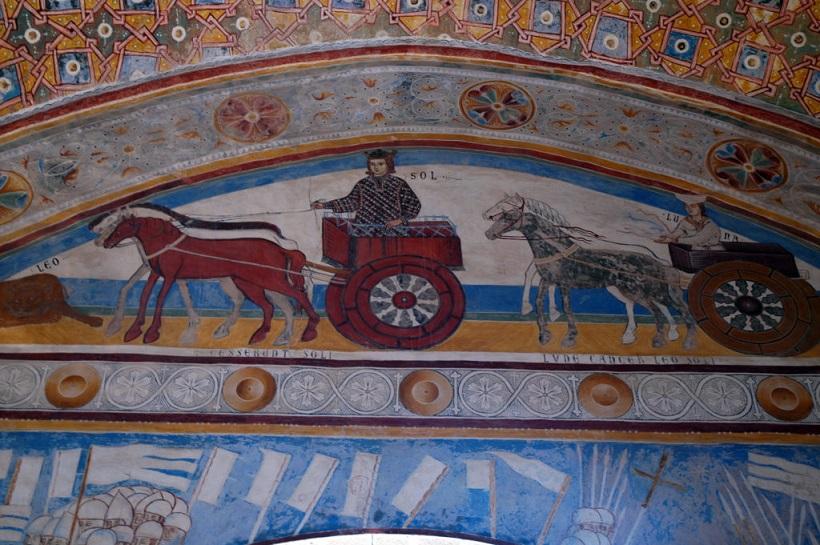 affreschi nelle sale della Rocca di Angera_castello sul lago maggiore