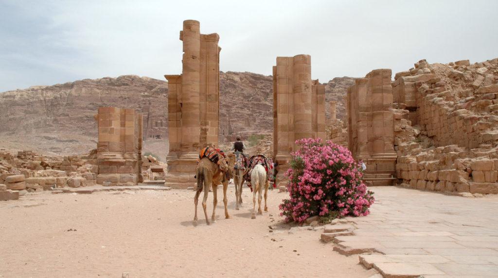 Visitare Petra: l'area romana