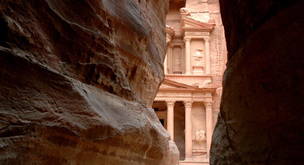 Il Tesoro di Petra in fondo al Siq