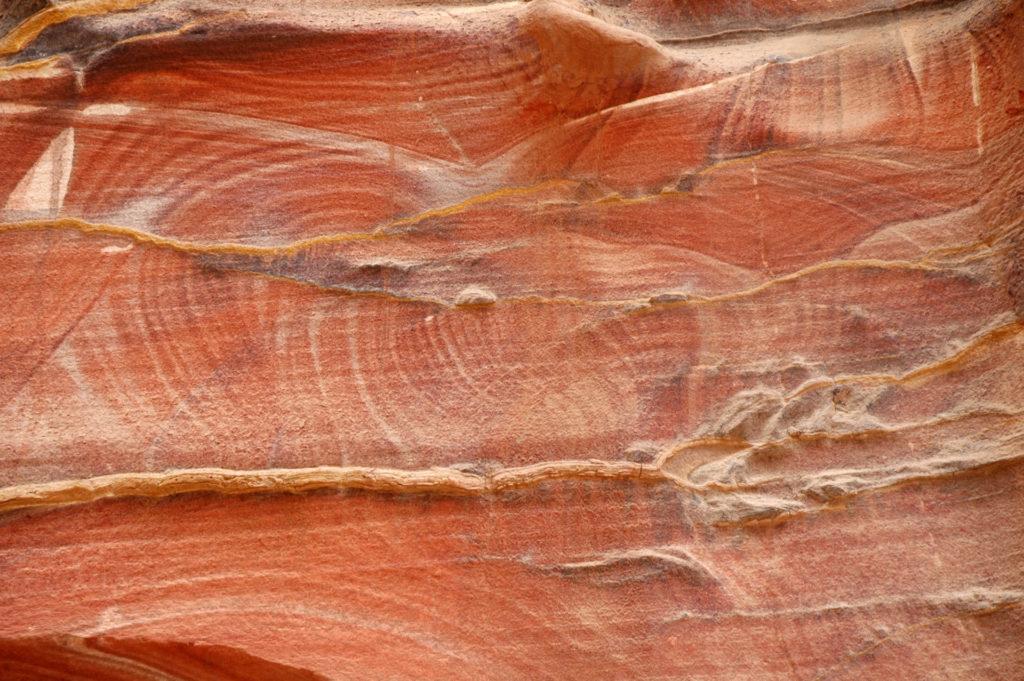 Il colore della roccia a Petra