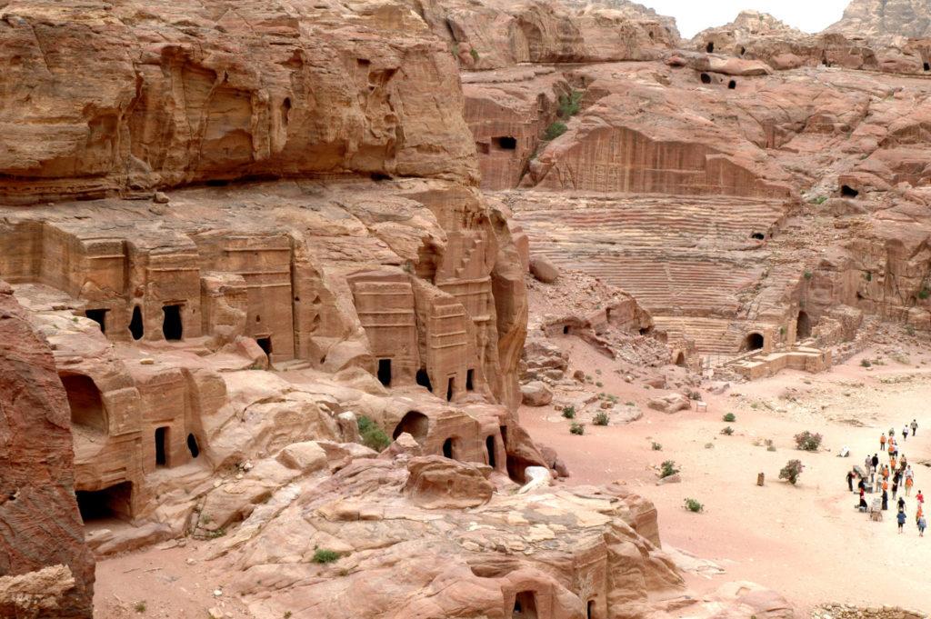 Vista di Petra dall'alto