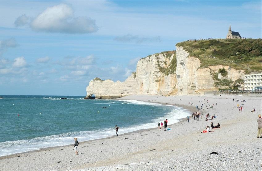 spiaggia di etretat_cosa vedere_francia