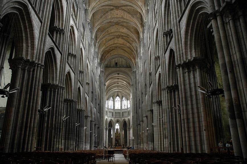 interno della cattedrale di rouen_cosa vedere_normandia