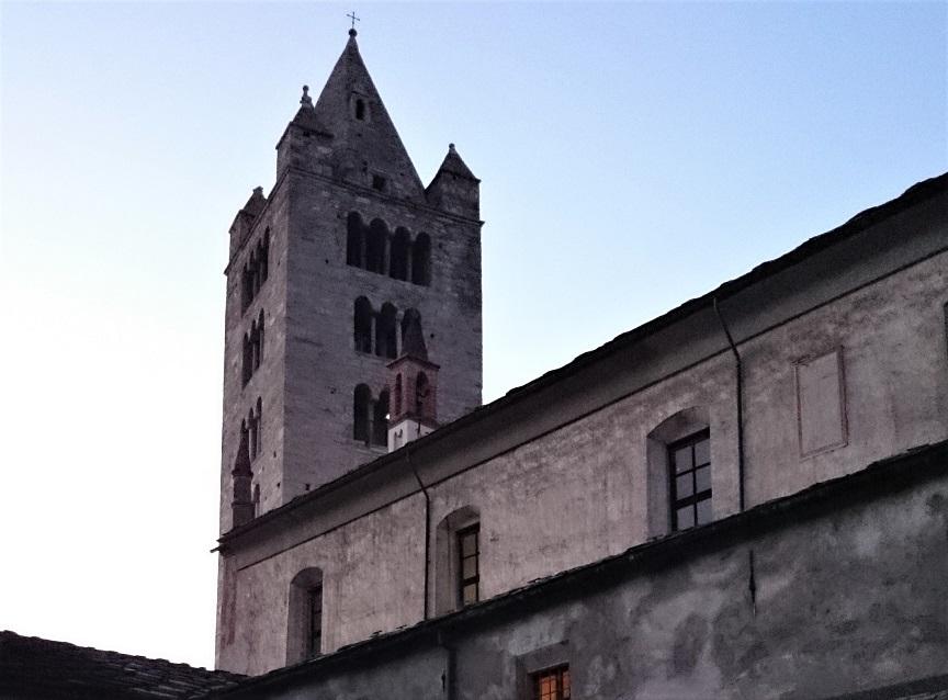 Il campanile della Colleghiata di Sant'Orso ad Aosta